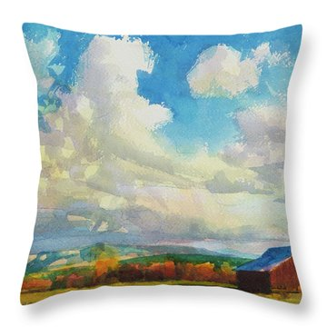 Lonesome Barn Throw Pillow