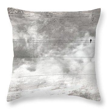 Throw Pillow featuring the painting Lonesome Dove by Gray  Artus
