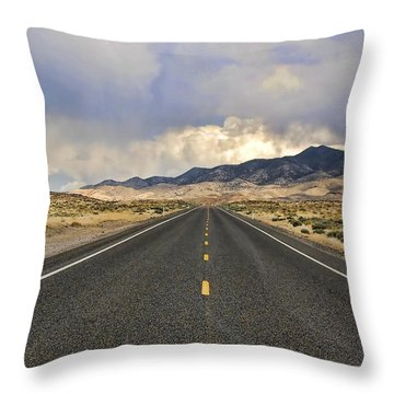 Lonesome Highway Throw Pillow by Nick Roberts