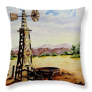 Lonesome Prairie Throw Pillow by Jimmy Smith