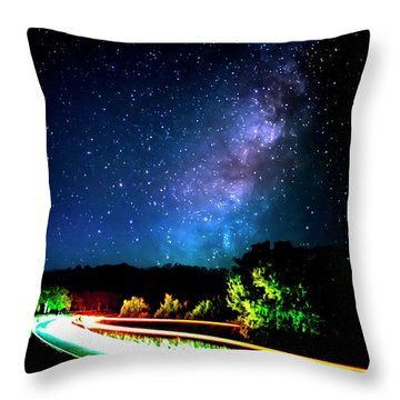 Throw Pillow featuring the photograph Lonesome Texas Highway by David Morefield