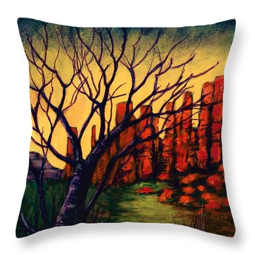 Lonesome Tree  Throw Pillow