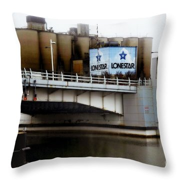Throw Pillow featuring the digital art Lonestar 1 by David Blank