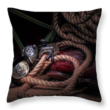 Lonestar Cowpoke Throw Pillow