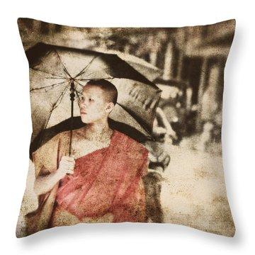 Long Ago In Luang Prabang Throw Pillow