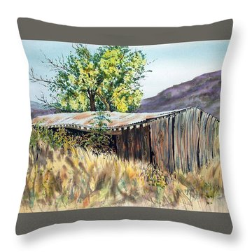 Long Barn Throw Pillow