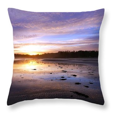 Long Beach, British Columbia Throw Pillow