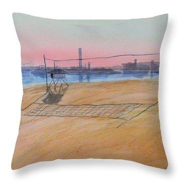 Long Beach Icons Throw Pillow