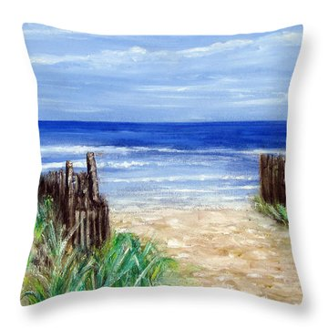 Long Beach Island Nj Throw Pillow