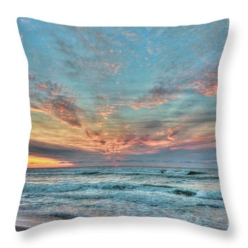 Long Beach Island Sunrise Throw Pillow