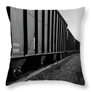 Throw Pillow featuring the photograph Long Black Train by Tara Lynn
