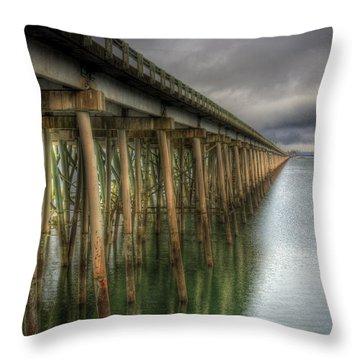 Long Bridge  Throw Pillow
