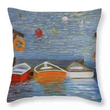 Long Cove Dock Throw Pillow