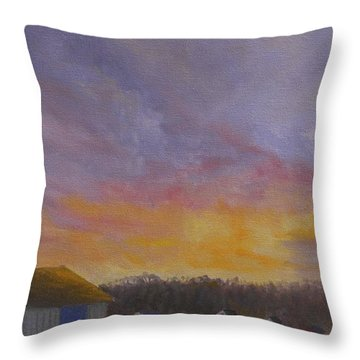 Long Cove Sunrise Throw Pillow