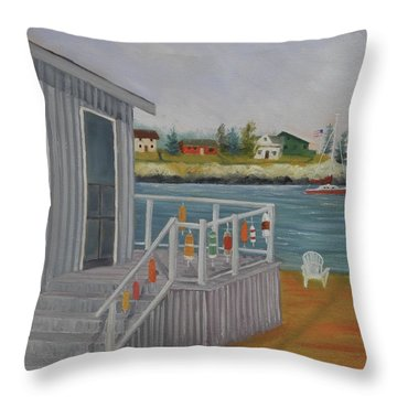 Long Cove View Throw Pillow