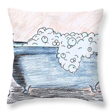 Long Day Throw Pillow by Diamin Nicole