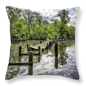 Long First Step Throw Pillow by Alan Raasch