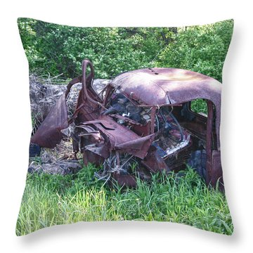 Throw Pillow featuring the photograph Long Forgotten 2808 by Guy Whiteley