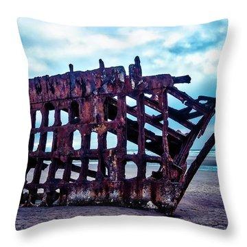 Long Forgotten Shipwreck Throw Pillow