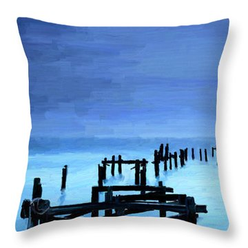 Throw Pillow featuring the painting Long Gone by James Shepherd