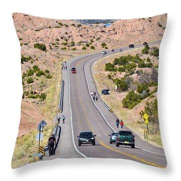 Long Hike Throw Pillow