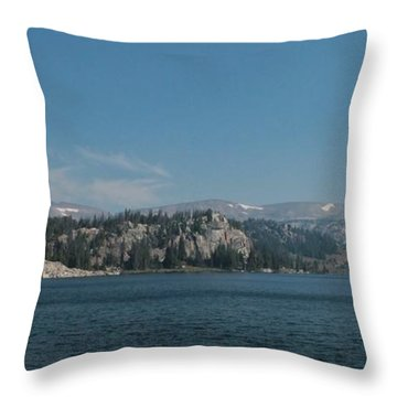 Long Lake Shoshone National Forest Throw Pillow