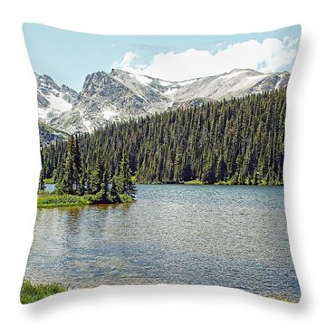 Long Lake Splender Throw Pillow