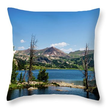 Throw Pillow featuring the photograph Long Lake Wyoming No. 2 by TL Mair