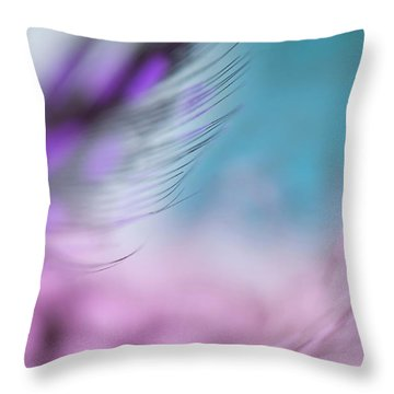 Throw Pillow featuring the photograph Long Lashes. Angels Flight Series by Jenny Rainbow