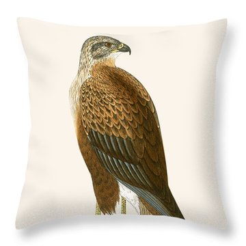 Long Legged Buzzard Throw Pillow