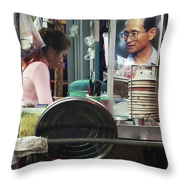 Throw Pillow featuring the photograph Long Live The King. Even After His by Mr Photojimsf