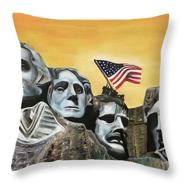 Long May It Wave Throw Pillow