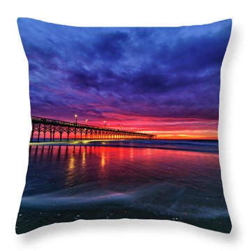Throw Pillow featuring the photograph Long Pier by DJA Images