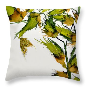 Long Pods And Butterfly Throw Pillow
