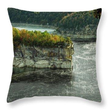 Long Point Clff Throw Pillow by Mark Allen