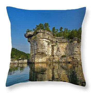 Long Point Throw Pillow by Mark Allen