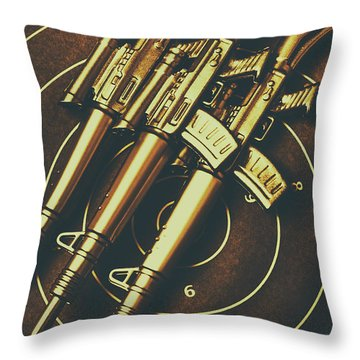 Long Range Tactical Rifles Throw Pillow