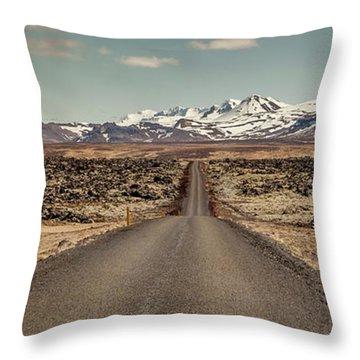 Long Road Ahead Throw Pillow