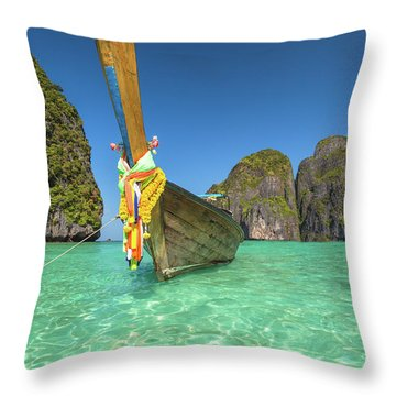 Long Tail Bot Throw Pillow