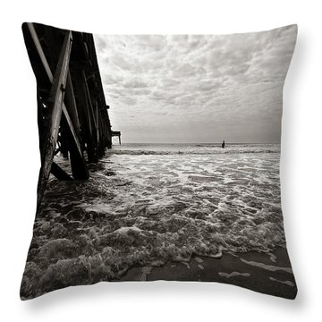 Long To Surf Throw Pillow