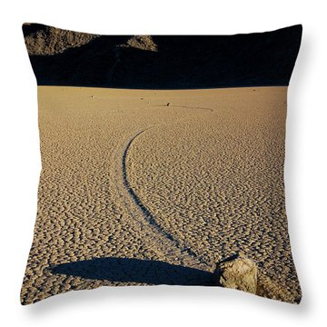 Long Tracks Throw Pillow