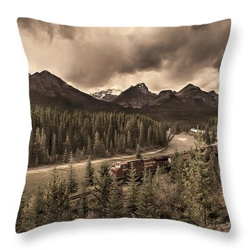 Throw Pillow featuring the photograph Long Train Running by John Poon