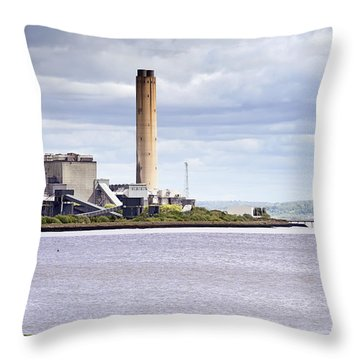 Throw Pillow featuring the photograph Longannet Power Station by Jeremy Lavender Photography