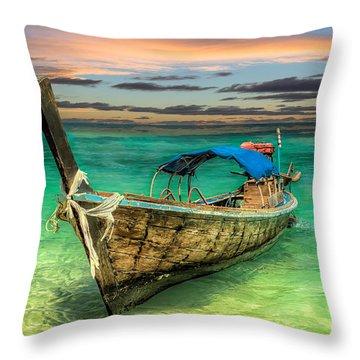 Longboat Sunset Throw Pillow