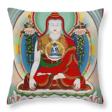 Longchenpa Throw Pillow