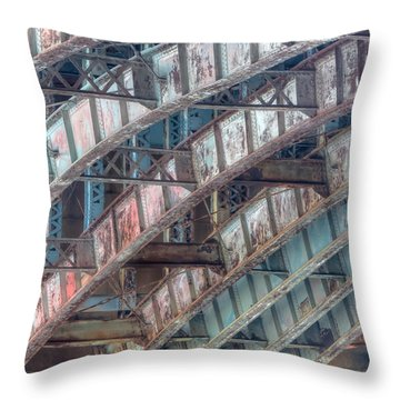 Longfellow Bridge Arches II Throw Pillow by Clarence Holmes