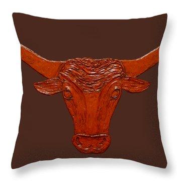 Longhorn 2 Throw Pillow