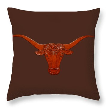 Longhorn 2 Throw Pillow