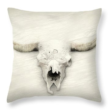 Longhorn Decor Throw Pillow