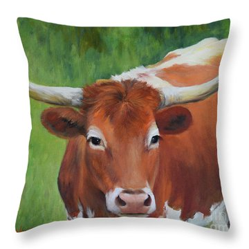 Longhorn I Throw Pillow